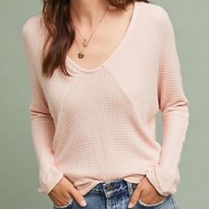 Pure + Good by Anthropologie Thermal Waffle Knit